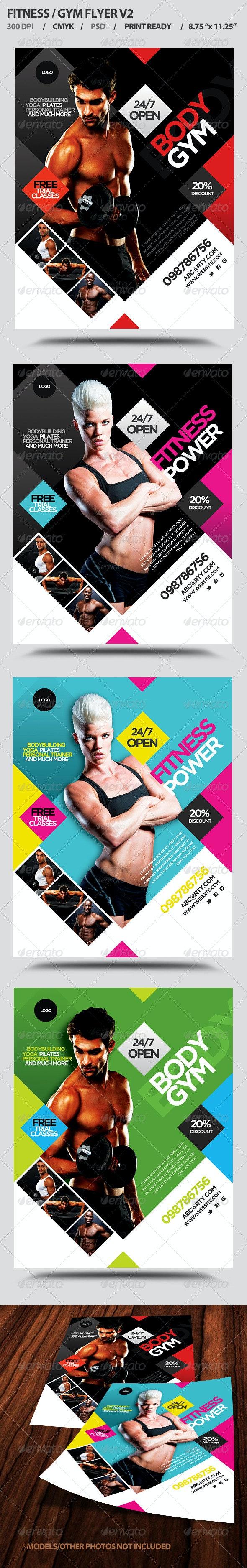 Fitness/Gym Business Promotion Flyer V2 - Flyers Print Templates