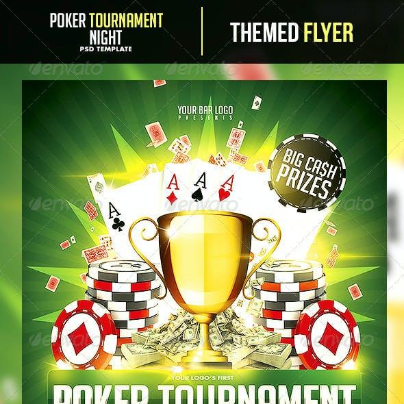 Poker Tournament Night Flyer Template