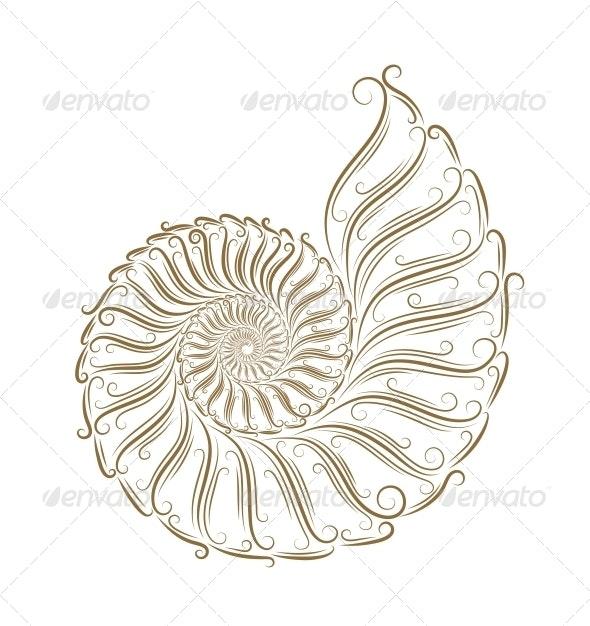 Sketch of Seashells - Animals Characters
