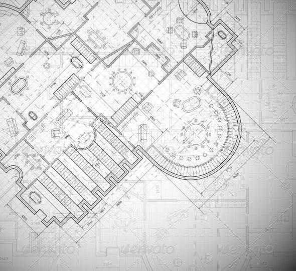 Architectural Plan - Backgrounds Decorative