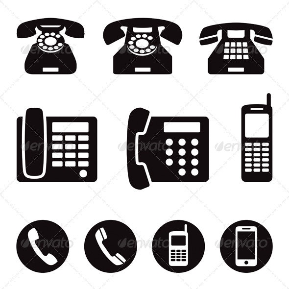 Phone Icons - Technology Conceptual
