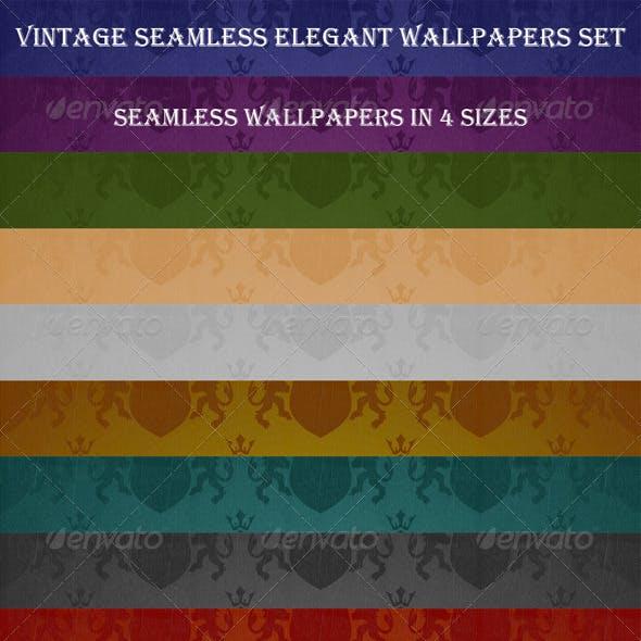 Seamless Elegant Wallpapers Set