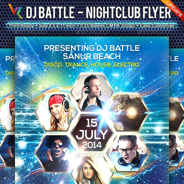 DJ Battle NightClub Flyer