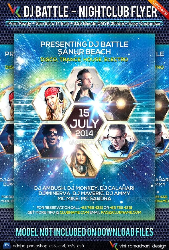 DJ Battle NightClub Flyer - Clubs & Parties Events