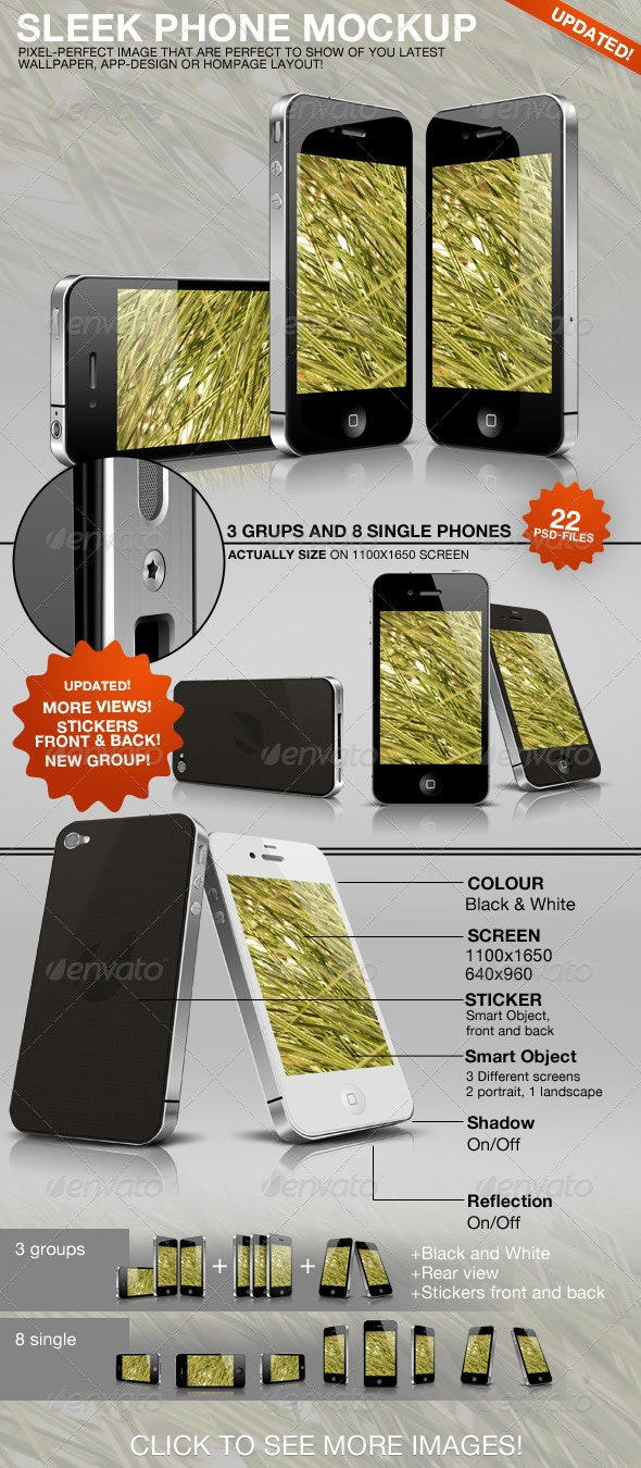 Sleek Phone Mockup - Mobile Displays