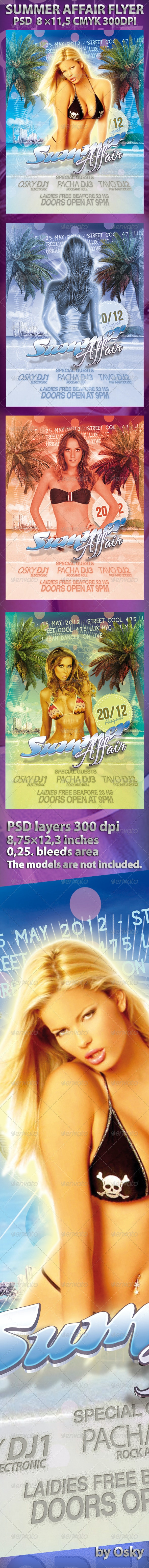 Summer Affair Flyer - Clubs & Parties Events