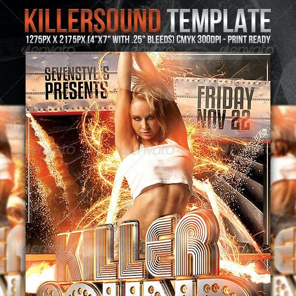 KillerSound Flyer Template