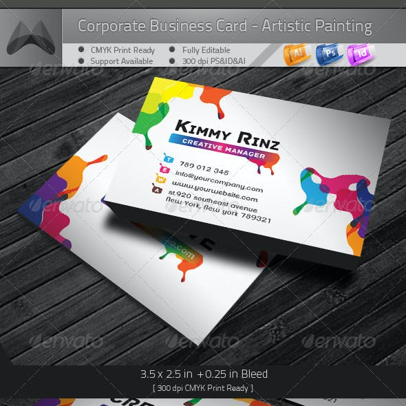 Business Card - Artistic Painting