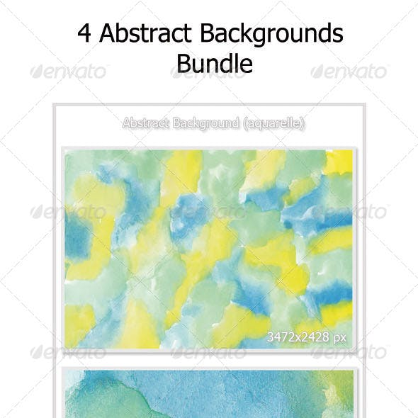 4 Abstract Background Bundle (Aquarelle)