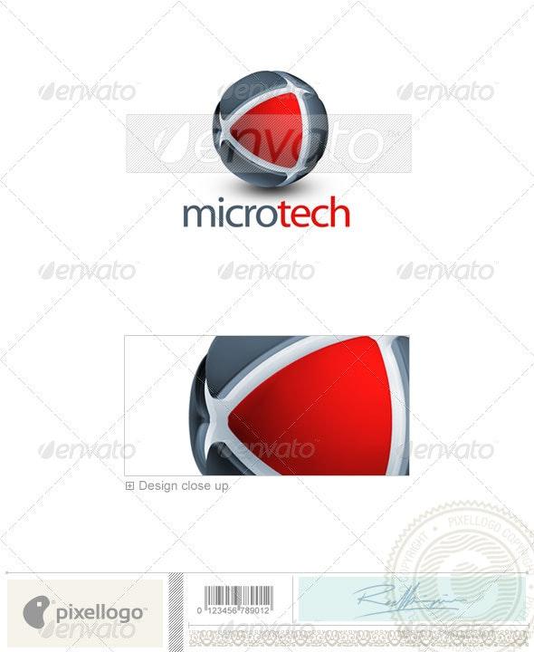 Technology Logo - 3D-280 - 3d Abstract