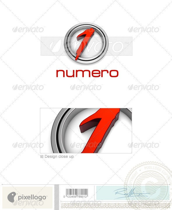 Numbers Logo - 3D-2
