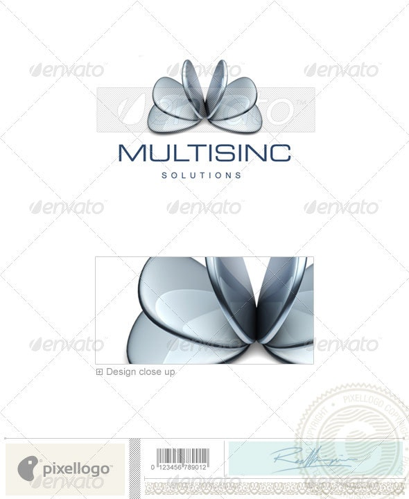 Industry & Science Logo - 3D-412 - 3d Abstract