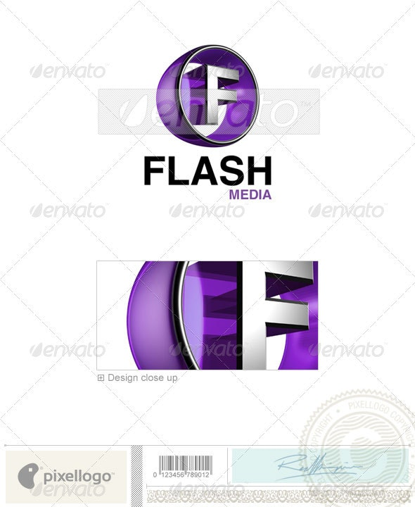 F Logo - 3D-438-F - Letters Logo Templates