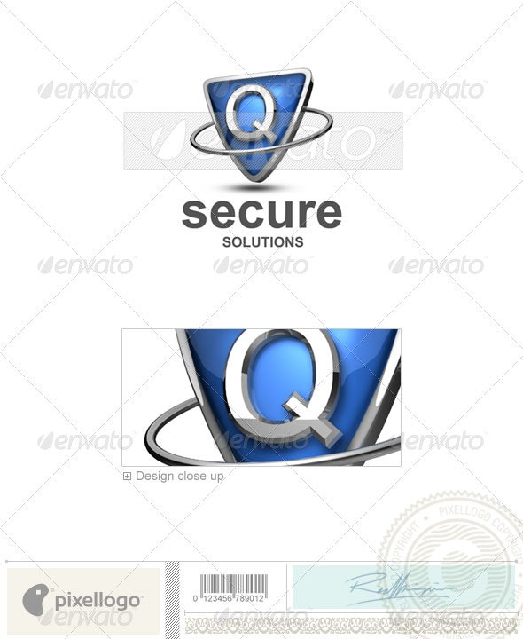 Q Logo - 3D-285-Q - Letters Logo Templates