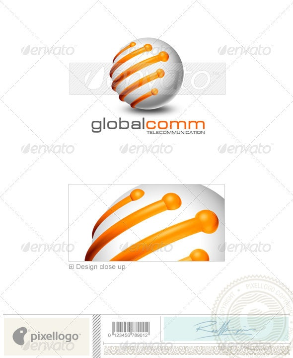 Communications Logo - 3D-169 - 3d Abstract