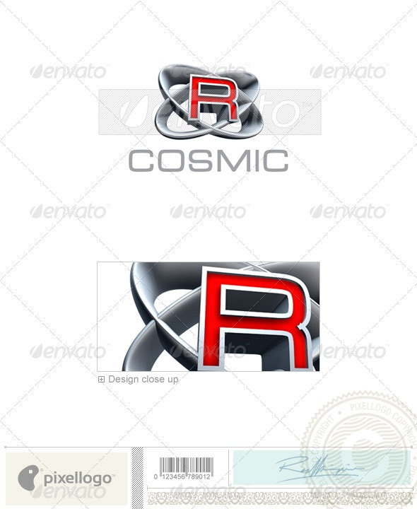 R Logo - 3D-348-R - Letters Logo Templates