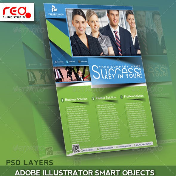 Business Flyer, Poster & Magzine Cover Template