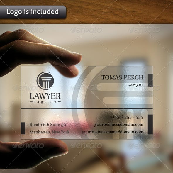 Law Firm Logo Business Card
