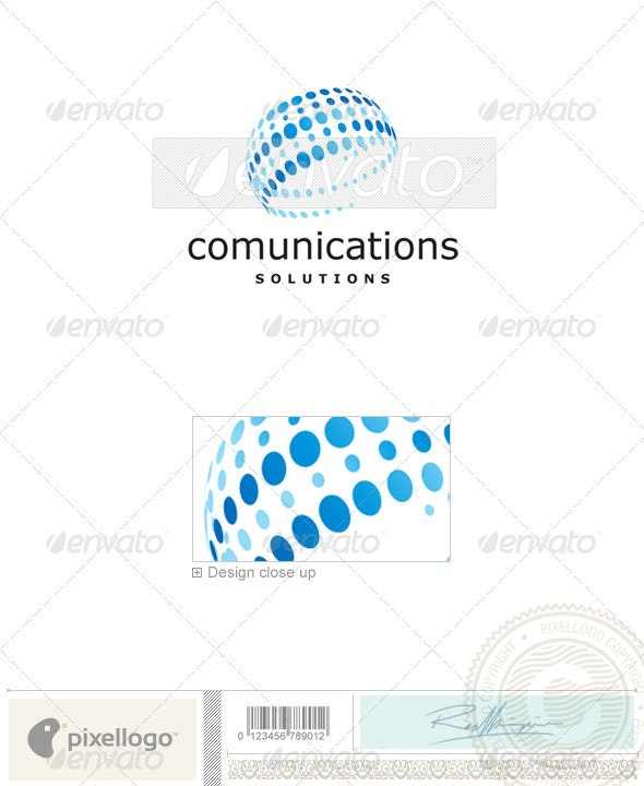 Communications Logo - 2225 - Vector Abstract