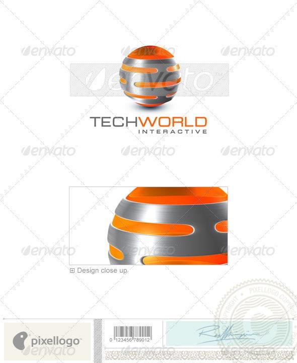 Technology Logo - 3D-334 - 3d Abstract