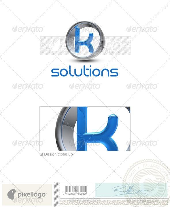 K Logo - 3D-288-K - Letters Logo Templates
