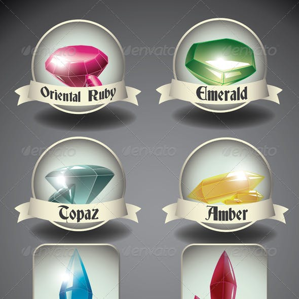 Crystals and Gems Badges.