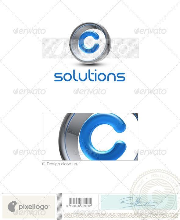 C Logo - 3D-288-C - Letters Logo Templates