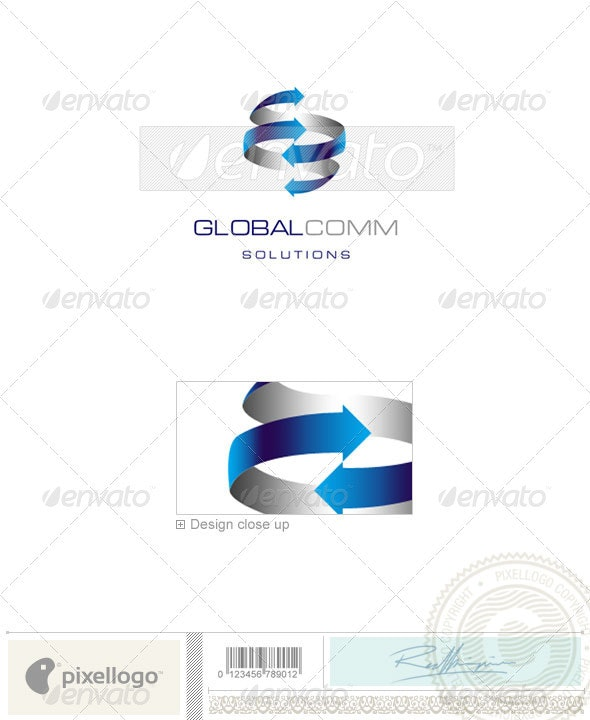 Communications Logo - 1092 - Vector Abstract
