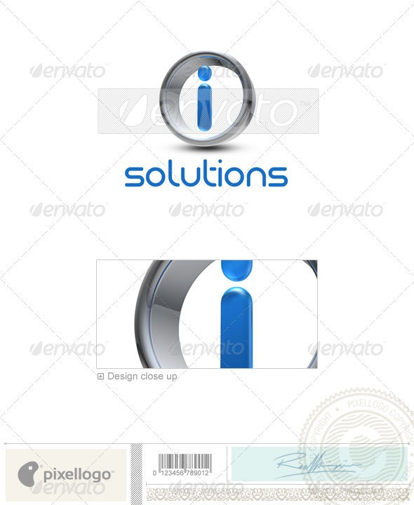 I Logo - 3D-288-I - Letters Logo Templates