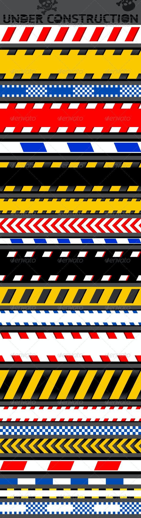 21 Caution Tapes - Backgrounds Decorative