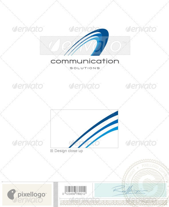 Communications Logo - 1960 - Vector Abstract