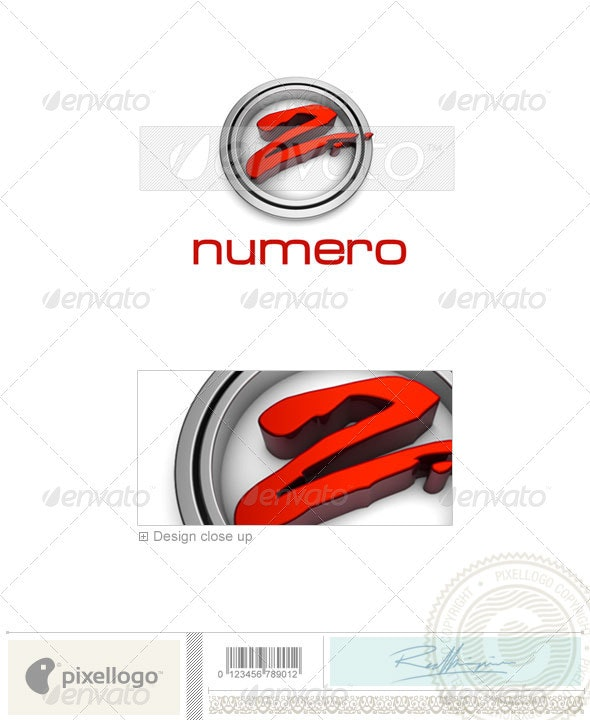 Numbers Logo - 3D-301 - Numbers Logo Templates