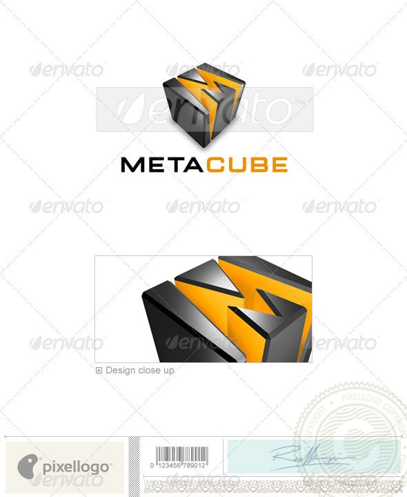 Technology Logo - 3D-339 - 3d Abstract