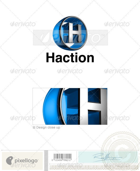 H Logo - 3D-438-H - Letters Logo Templates