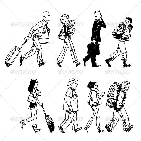 Group of Passengers