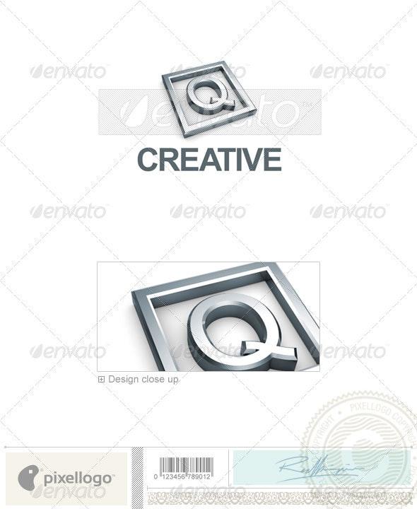 Q Logo - 3D-295-Q - Letters Logo Templates