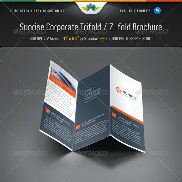 Sunrise Corporate Trifold & Z-fold Brochure