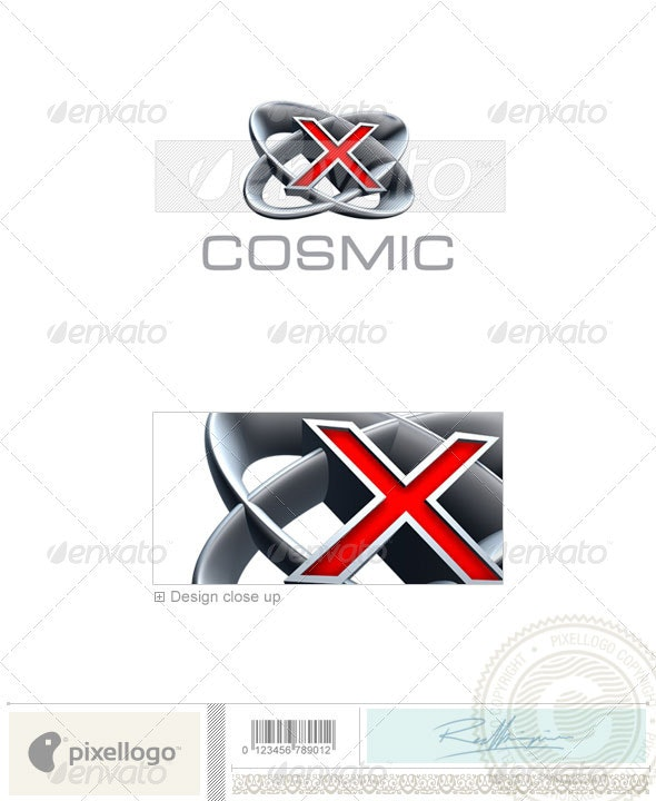 X Logo - 3D-348-X - Letters Logo Templates
