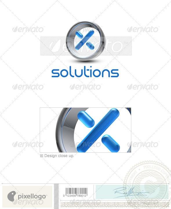 X Logo - 3D-288-X - Letters Logo Templates