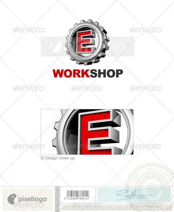 E Logo - 3D-292-E - Letters Logo Templates