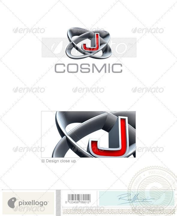 J Logo - 3D-348-J - Letters Logo Templates