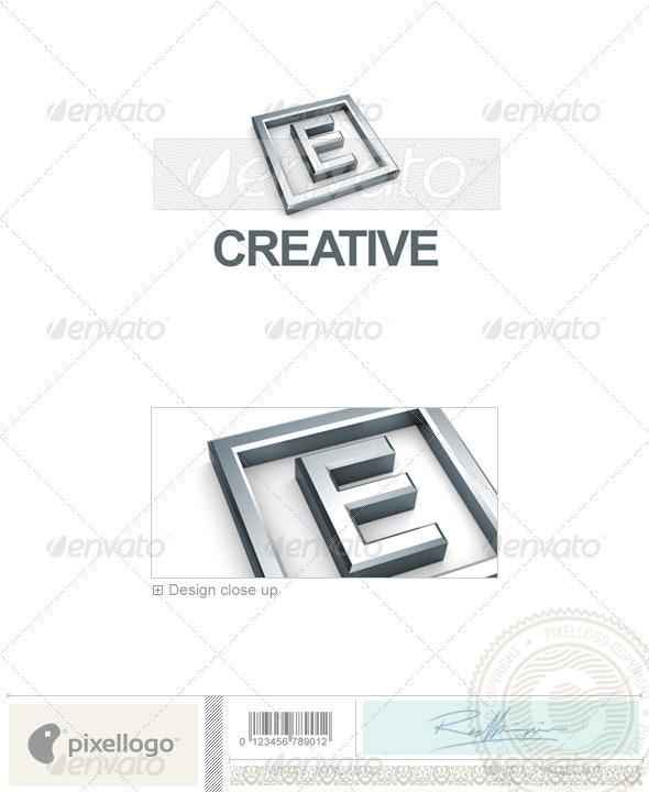 E Logo - 3D-295-E - Letters Logo Templates