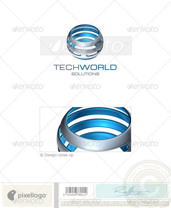 Communications Logo - 3D-350 - 3d Abstract