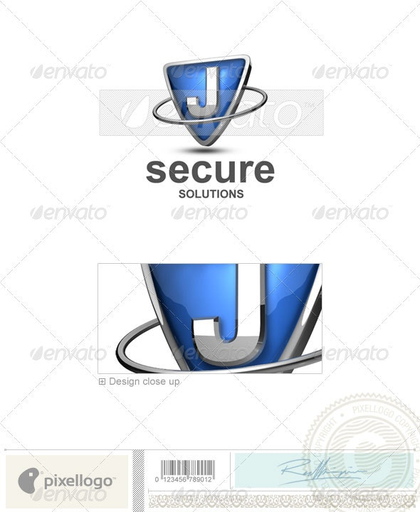 J Logo - 3D-285-J - Letters Logo Templates