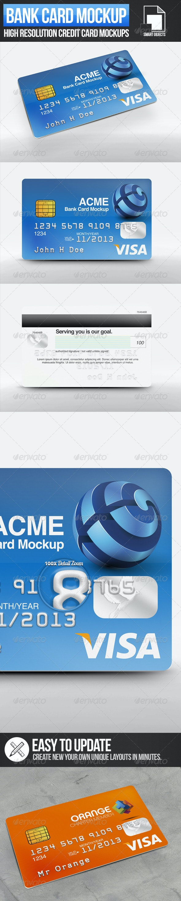 Bank Card Mockups - Miscellaneous Print