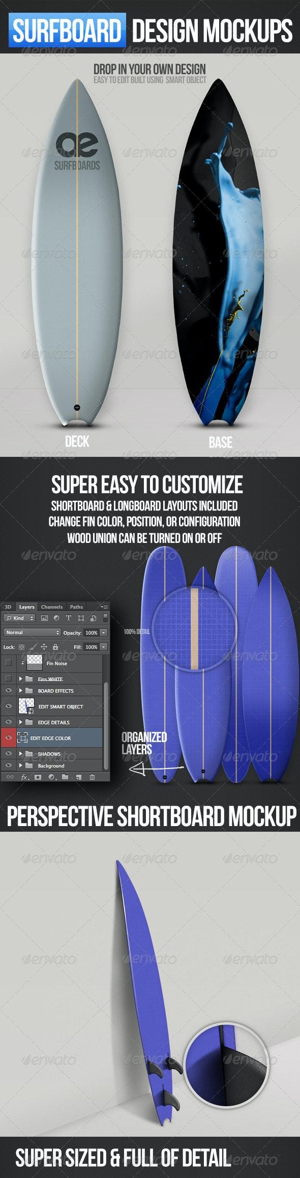 Surfboard Mockups - Miscellaneous Product Mock-Ups