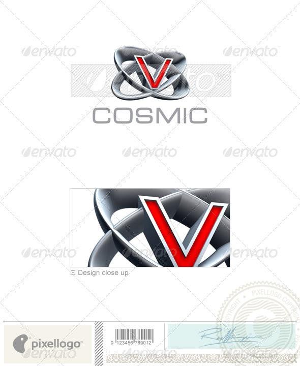 V Logo - 3D-348-V - Letters Logo Templates