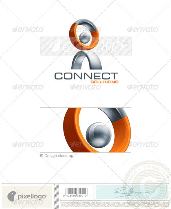 Communications Logo - 3D-384 - 3d Abstract