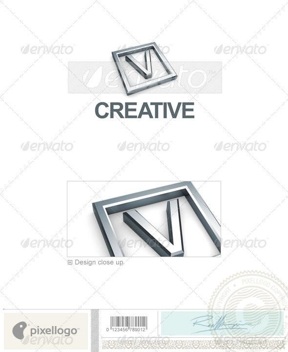 V Logo - 3D-295-V - Letters Logo Templates