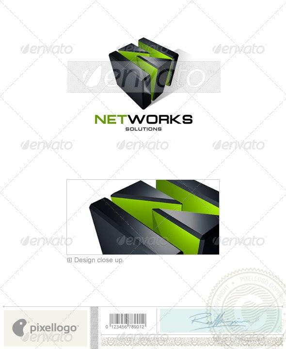 Technology Logo - 3D-132 - 3d Abstract